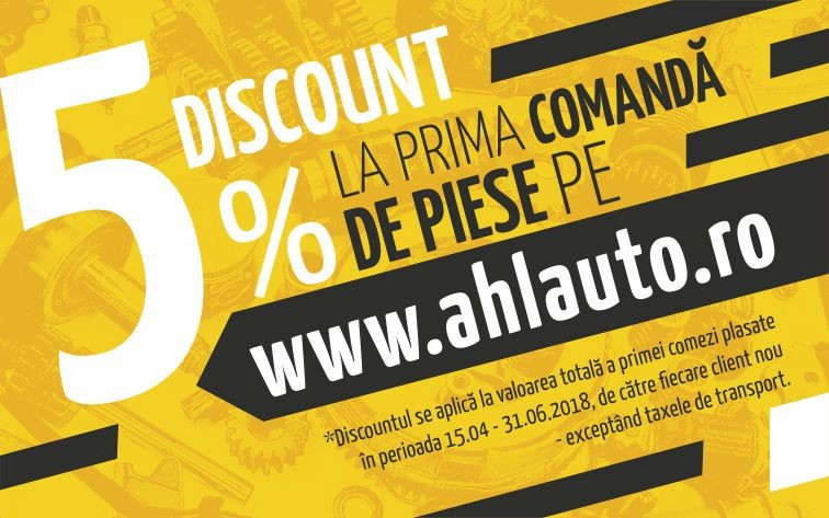 Card discount piese auto ahlauto